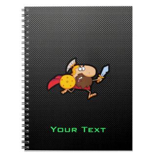 Spartan Gladiator; Sleek Spiral Note Book