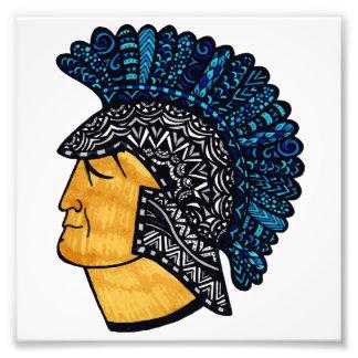 Spartan Head - Blue Photo Print