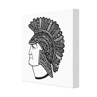 Spartan Head Canvas Print