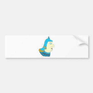 Spartan Head Logo Aqua/Brown/Yellow Bumper Sticker