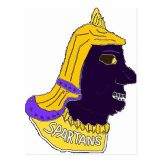 Spartan Head Logo Gold Purple Black Postcard