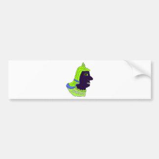 Spartan Head Logo Green/Blue/Black Bumper Sticker