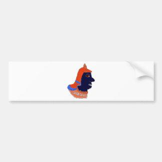 Spartan Head Logo Orange/Blue/Black Bumper Sticker