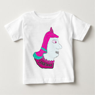 Spartan Head Logo Pink and Light Blue Baby T-Shirt