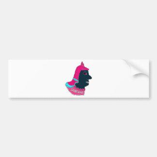 Spartan Head Logo Pink/Aqua/Black Bumper Sticker