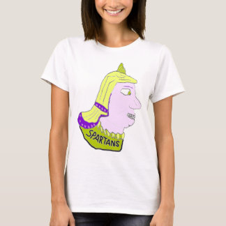 Spartan Head Logo Yellow and Mauve T-Shirt