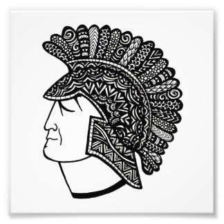 Spartan Head Photo Print