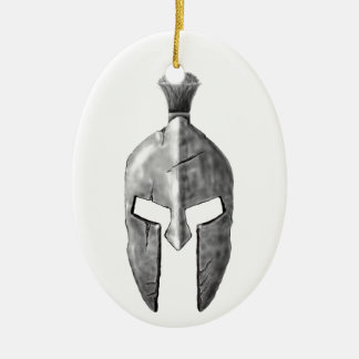 Spartan Helm Ceramic Ornament