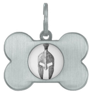 Spartan Helm Pet Name Tag