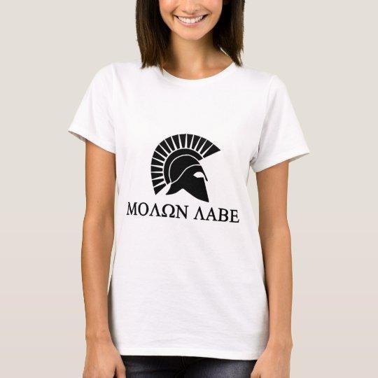 Spartan Helmet Molon Labe T-Shirt