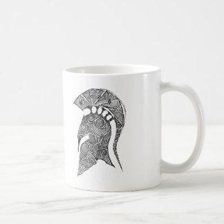Spartan Helmet Sketch Coffee Mug