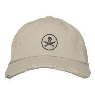 Spartan Helmet Swords Circle Embroidered Baseball Cap