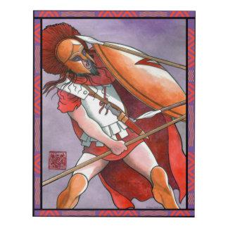 """Spartan Hoplite"" Wall Panel Print"