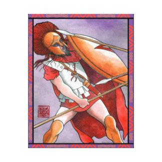Spartan Hoplite Wrapped Canvas Print