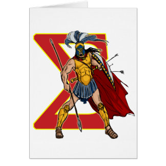 SPARTAN HOPLITES GREETING CARD
