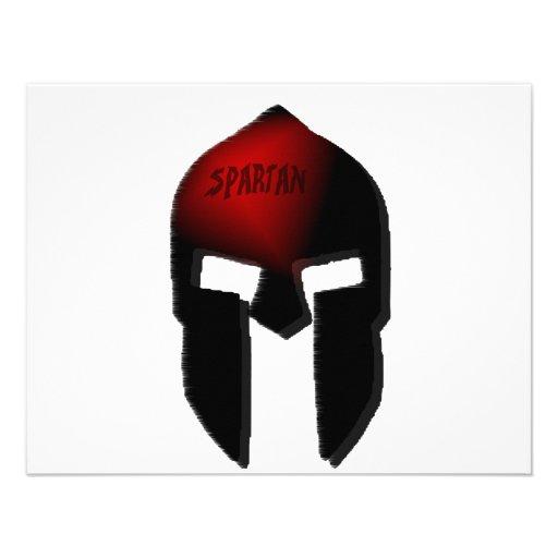 spartan personalized invitations