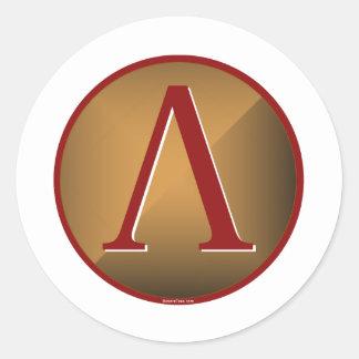 Spartan Lambda Shield Classic Round Sticker