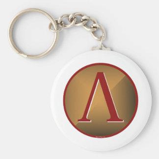 Spartan Lambda Shield Keychain