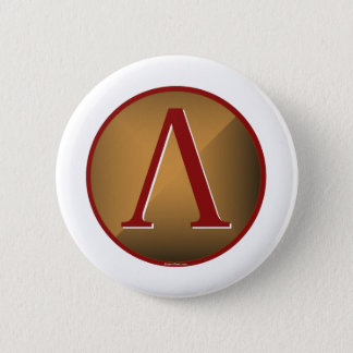 Spartan Lambda Shield Pinback Button