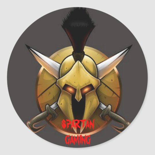 Spartan_Logo_by_TheQuezot, SPARTAN GAMING Classic Round Sticker