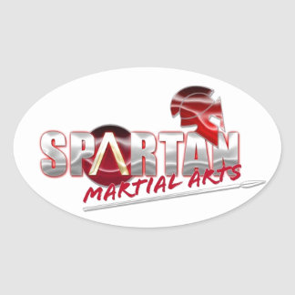 Spartan Martial Arts Products Oval Stickers
