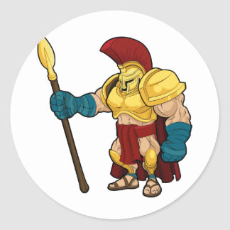 Spartan or Trojan Gladiator Classic Round Sticker