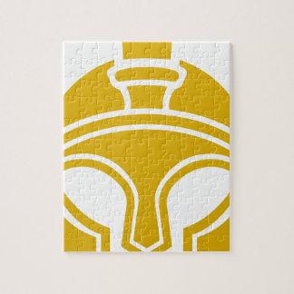 Spartan or Trojan helmet icon Puzzles