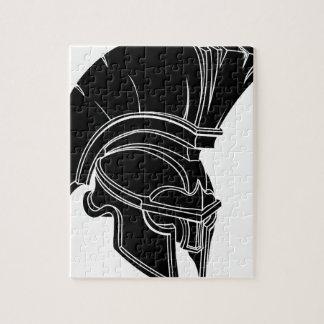 Spartan or trojan helmet jigsaw puzzle