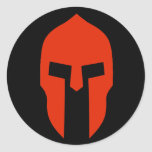 Spartan Red Classic Round Sticker at Zazzle