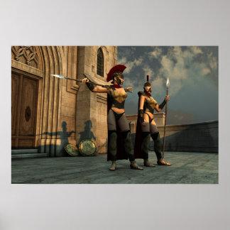 Spartan Sentries Print