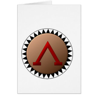 Spartan Shield Note Cards
