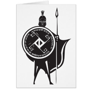 Spartan Soldier Greeting Card