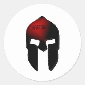 spartan classic round sticker