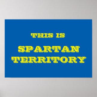 Spartan Territory Poster