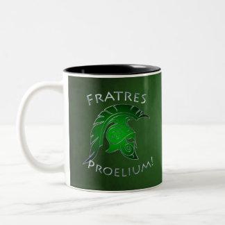 Spartan Trojan Greek Warrior Green Mug