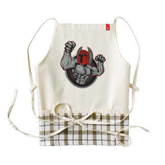 Spartan Trojan Mascot Zazzle HEART Apron