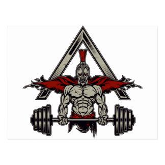Spartan Warrior Postcard