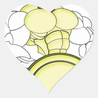 SPARTAN WARRIOR ROBOT HEART STICKER