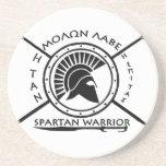 Spartan warrior shield beverage coaster