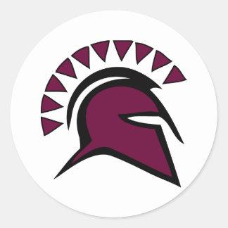 Spartan Warrior Classic Round Sticker