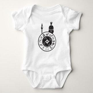Spartan with Shield Baby Bodysuit