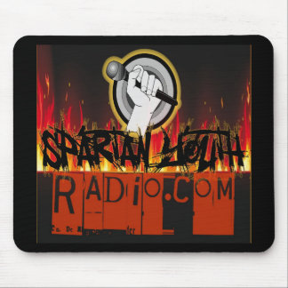 Spartan Youth Radio Grunge On Fire Design Mouse Pad
