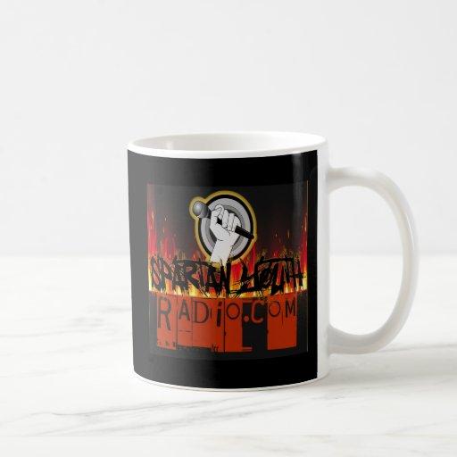 Spartan Youth Radio Grunge On Fire Design Coffee Mugs