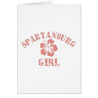 Spartanburg Pink Girl Greeting Card