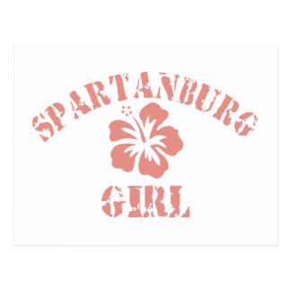Spartanburg Pink Girl Postcard