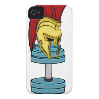 Spartan's helmet on dumbbell iPhone 4 cover