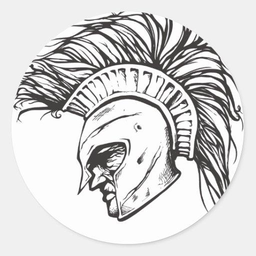 Spartans Pegatinas Redondas