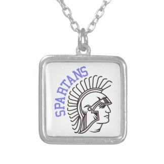 Spartans Square Pendant Necklace