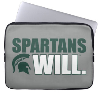 Spartans Will Laptop Sleeve