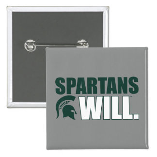 Spartans Will Pinback Button
